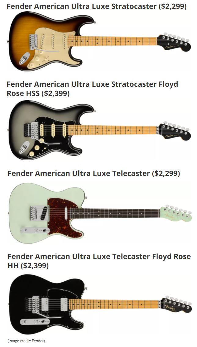 Nuove Fender Ultra (foto)