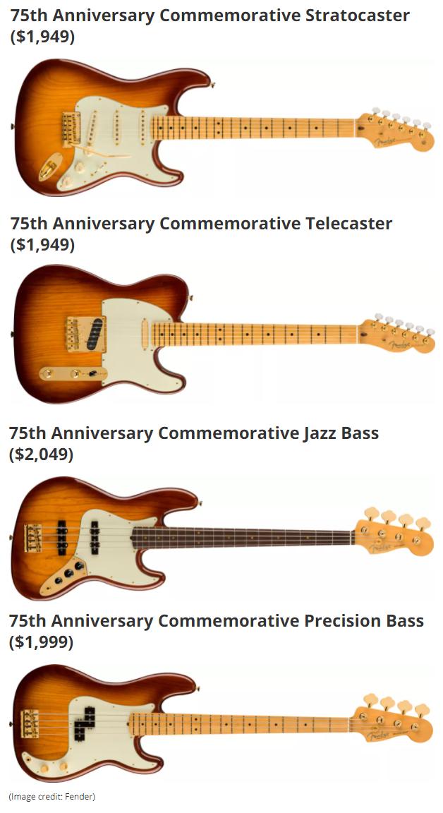 Nuove Fender Anniversary (foto)