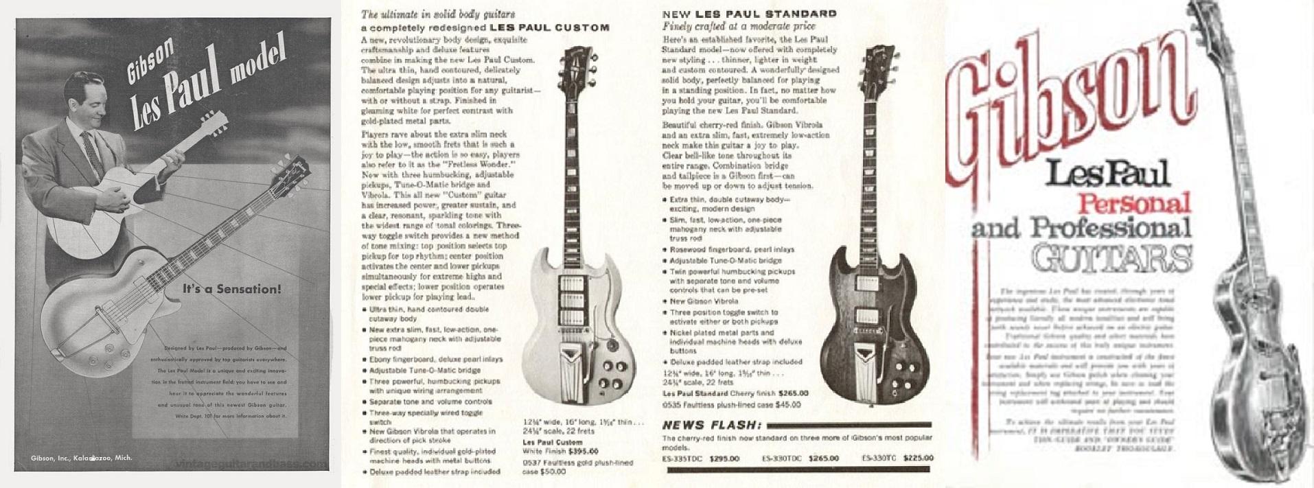 La Gibson Les Paul Model e Lester William Polsfuss tra il 1952 e il 1969, 2ª parte.
