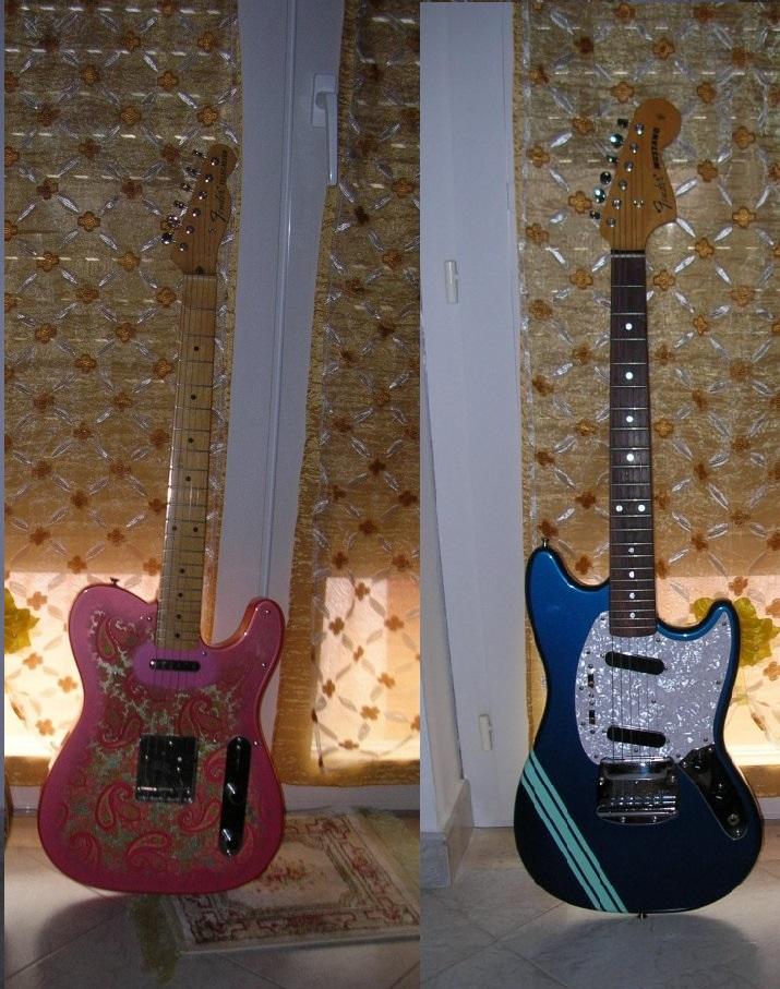 Io e le Fender con gli occhi a mandorla!