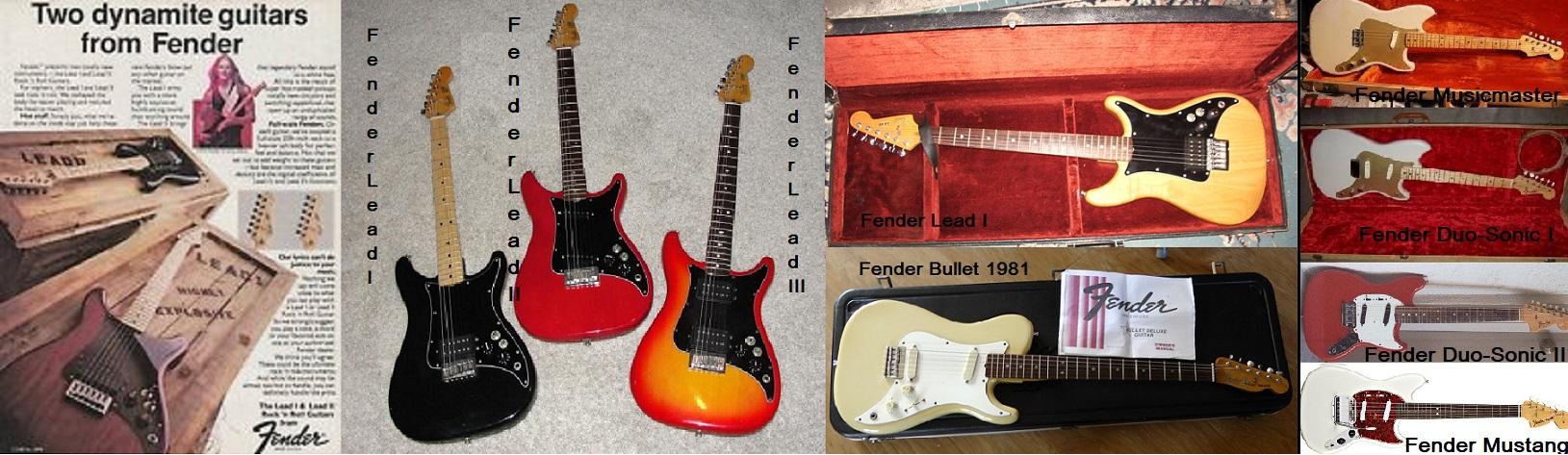 Le produzioni di Fender-CBS dell'ultimo periodo.