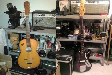 Un po' di commoventi ricordi, miei bassi e chitarre della EKO.