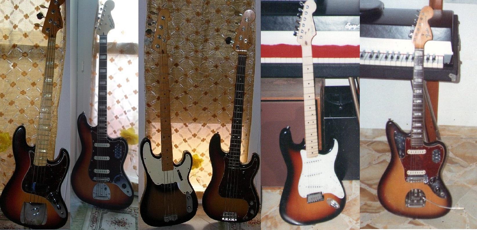 Le mie Fender coloratissime!
