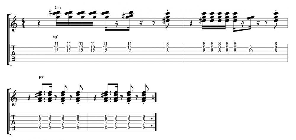 La chitarra ritmica di Corrado Rustici con Zucchero