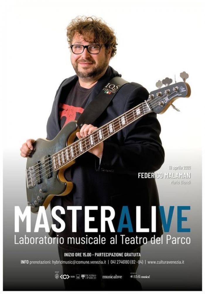 Federico Malaman: masterclass in presenza questa domenica a Venezia