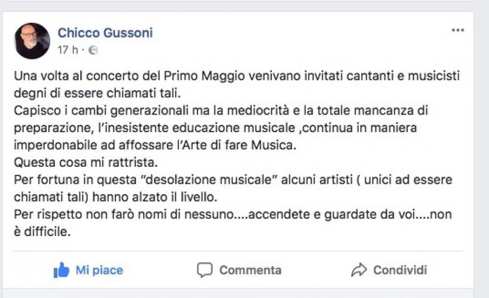 Concerto del Primo Maggio: scarsa attenzione alla musica.