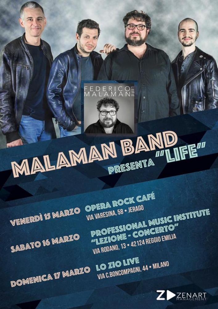 "Federico Malaman porta ""Life"" dal vivo"