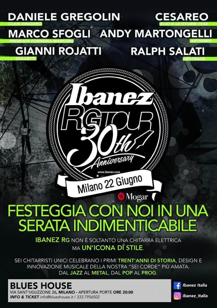 Ibanez RG Tour 30Th Anniversary: Sfogli, Rojatti, Salati e Martongelli