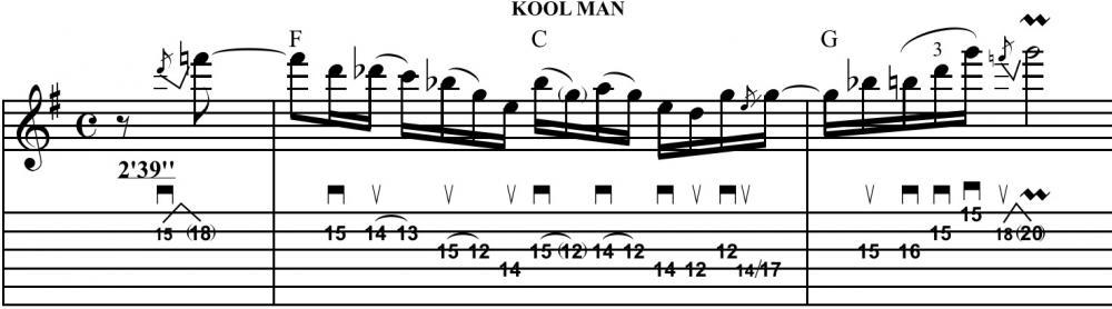 Colori jazz per il fraseggio blues