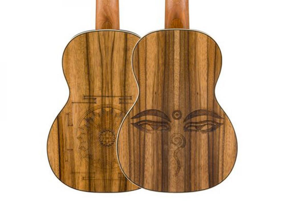 L'ukulele tenore Fender si tira a lustro per Dhani Harrison