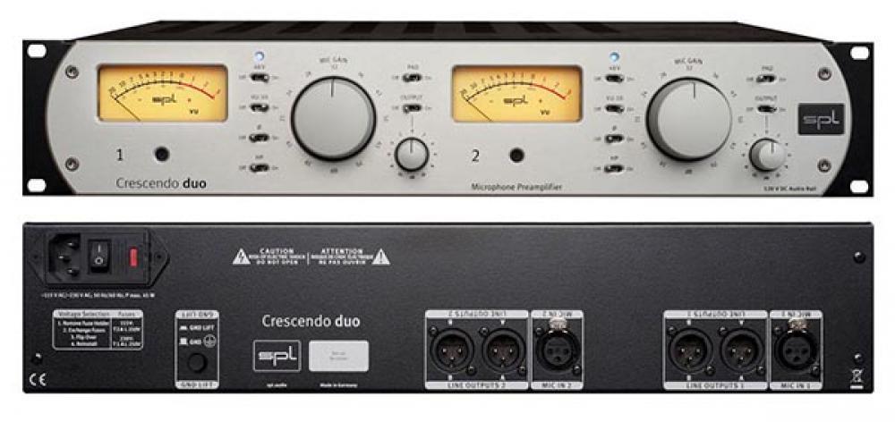 Crescendo rimpicciolisce: i due canali a 120V di SPL Audio