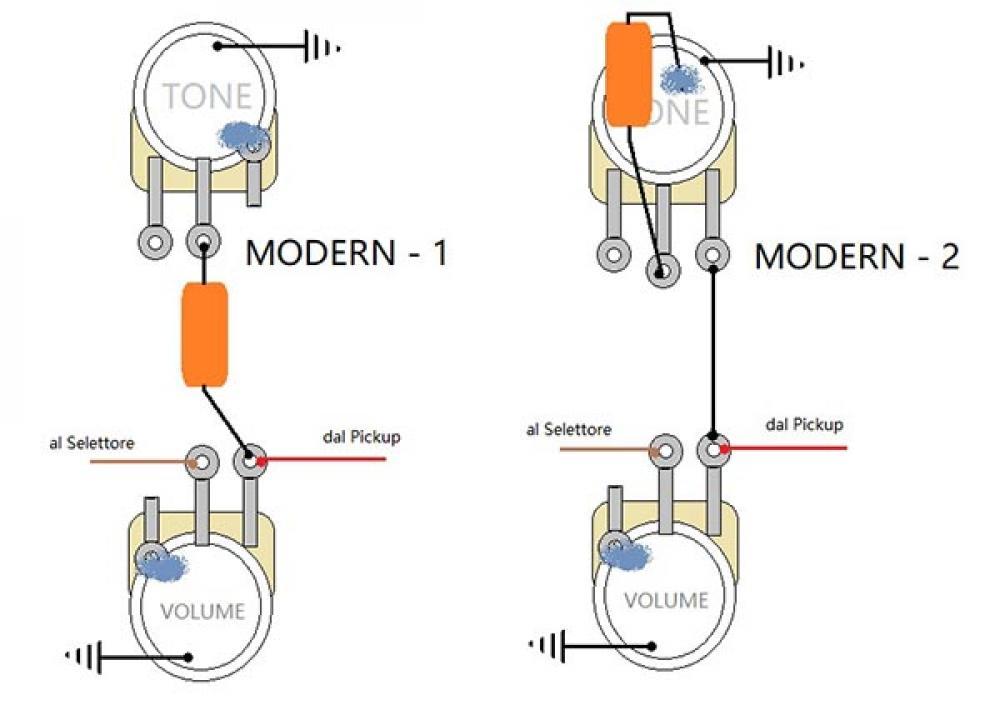 Miglioriamo il modern wiring spostando il condensatore