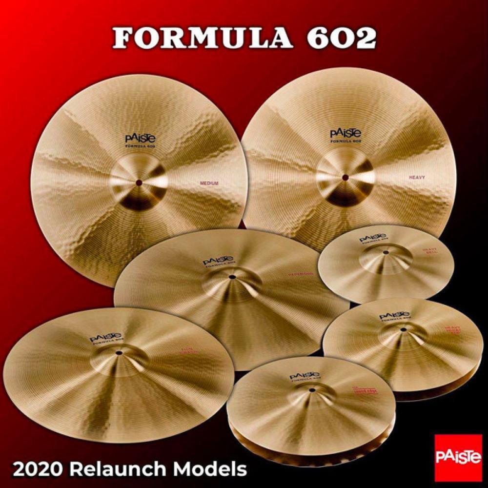 Paiste: tornano i piatti Formula 602