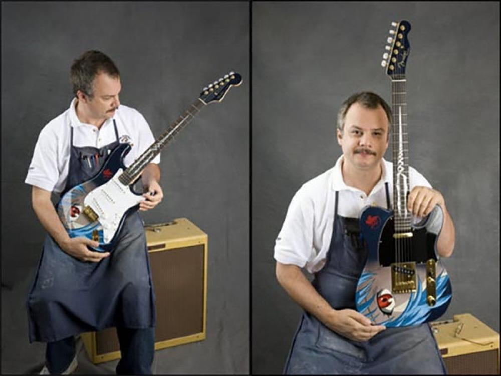 Fender dedica una Telecaster a Evangelion, e non è la prima