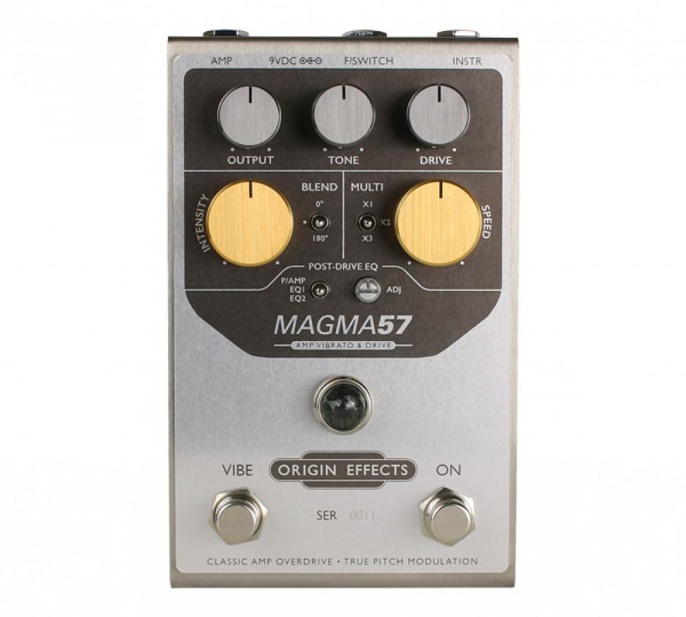 Magma 57: Vibrato e Drive in stile Magnatone a pedale