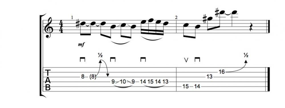 Fraseggi con la scala Double Harmonic
