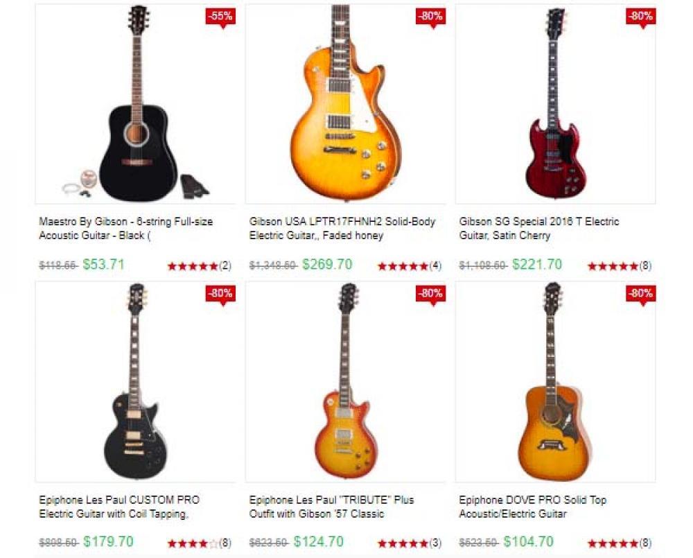 La truffa delle chitarre online a prezzi bassissimi