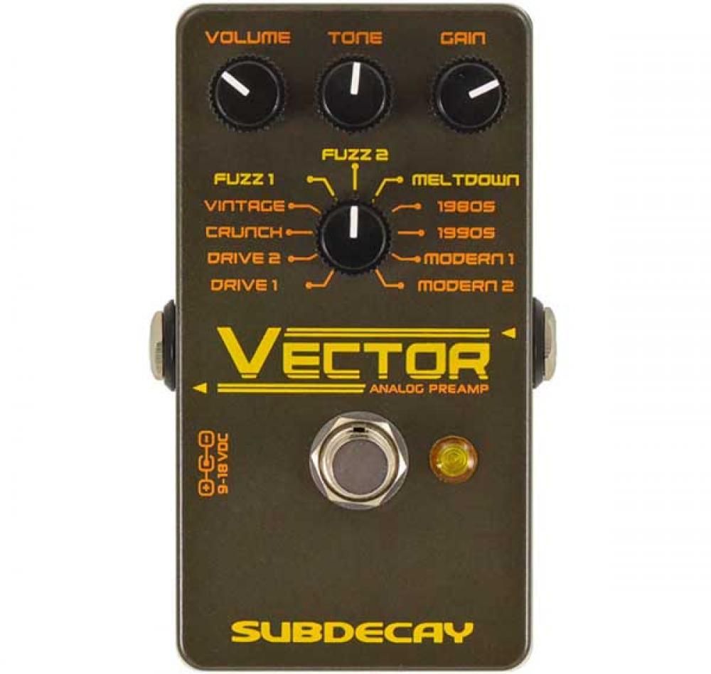 Vector racchiude 11 preamp in un pedale analogico