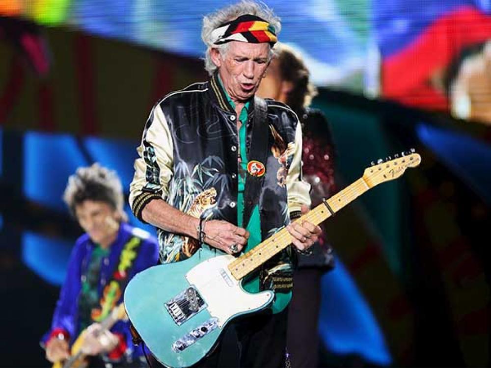Le chitarre di Keith Richards al No Filter Tour 2017