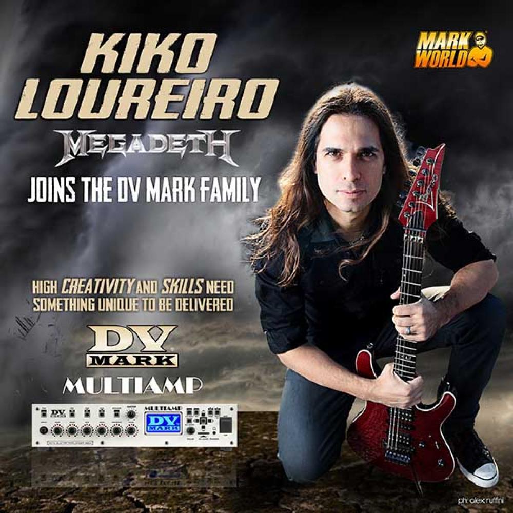 """Kiko Loureiro suona italiano col Multiamp: """"il futuro è oggi"""""""