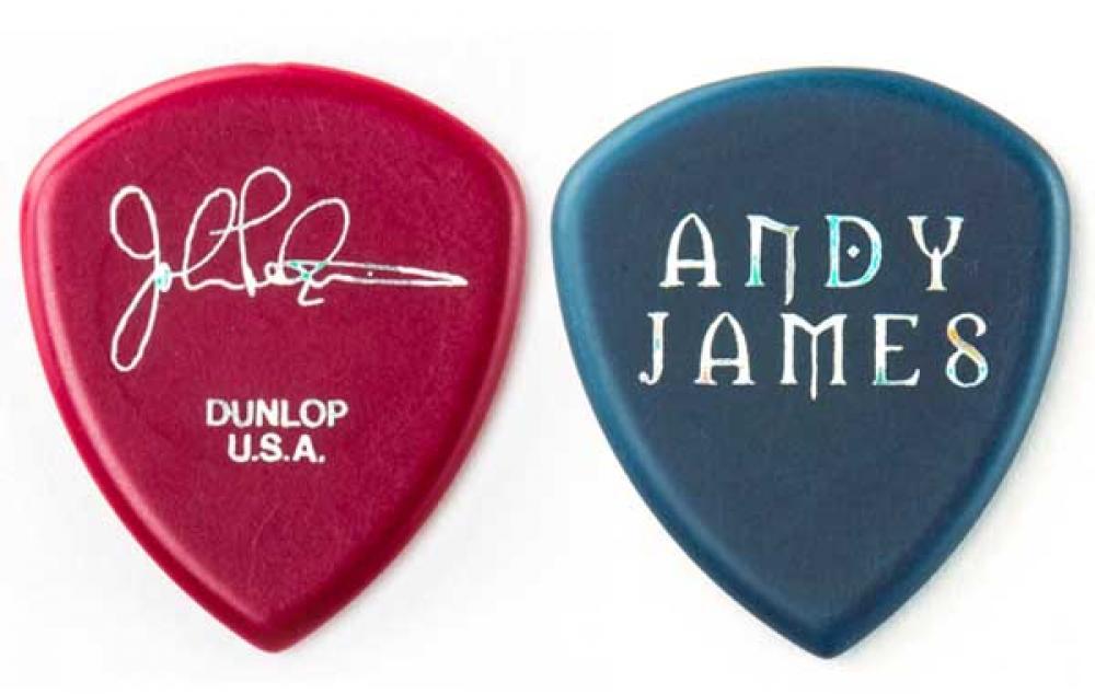Andy James e John Petrucci sui plettri Flow
