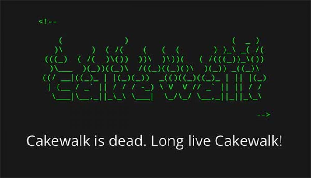 Inizia la svendita Gibson e Cakewalk torna in vita