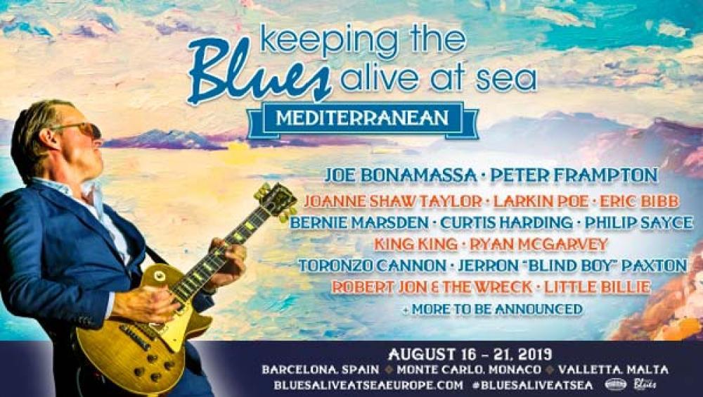 La crociera blues di Bonamassa arriva nel Mediterraneo