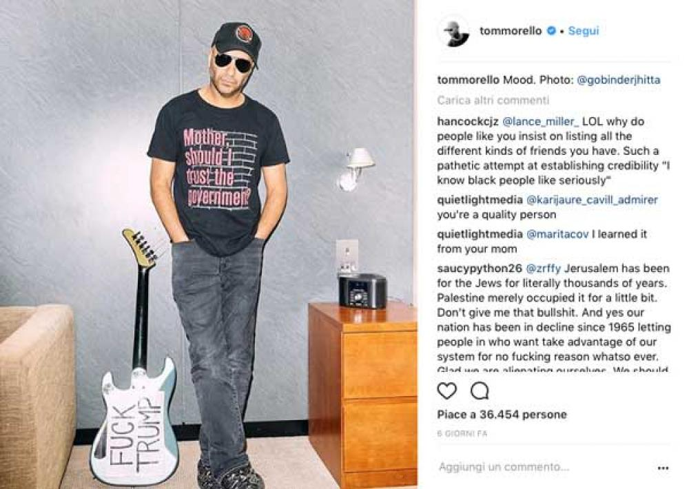 Tom Morello zittisce un fan sostenitore di Trump