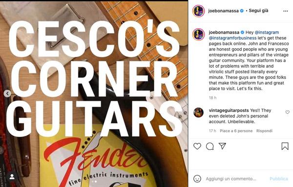Instagram banna i nomi della chitarra vintage: che sta succedendo?! [AGGIORNATO]