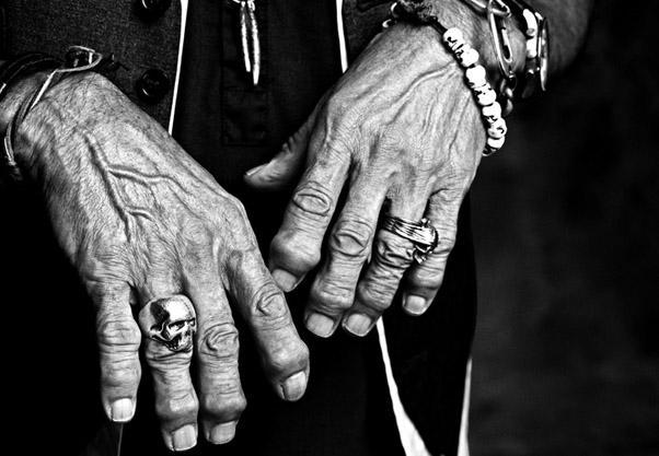 La mano del chitarrista