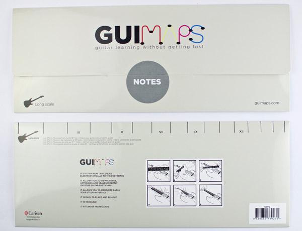 Guimaps: mappe per trovare la strada sulla chitarra