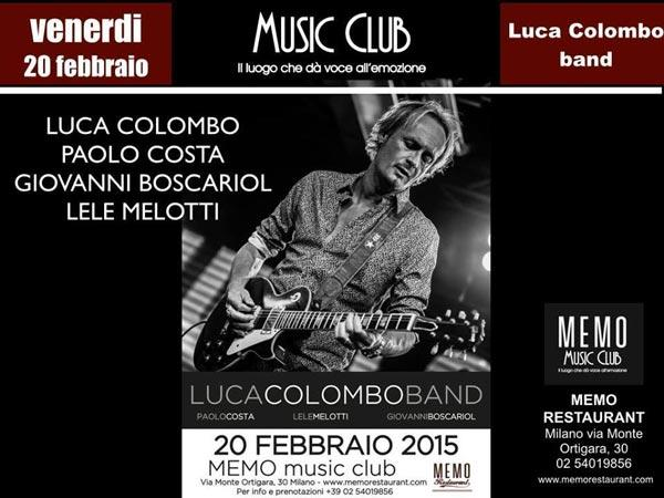 Luca Colombo band live a Milano