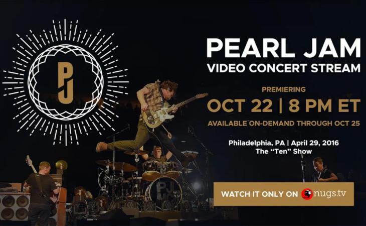 Pearl Jam: lo storico concerto di Philadelphia in streaming il 22 ottobre