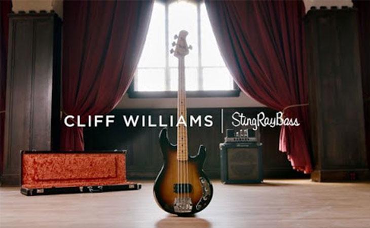 Da Ernie Ball il basso per Cliff Williams degli AC/DC