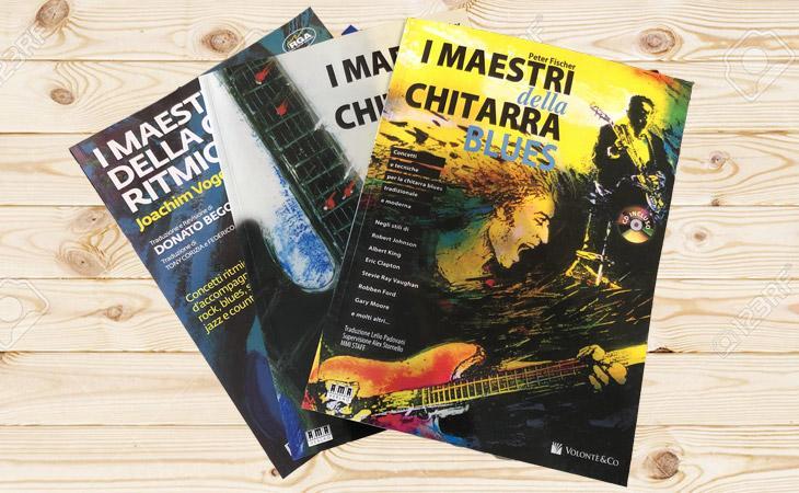 I Maestri della Chitarra Rock Ritmica Blues, i tre libri che tutti devono avere!