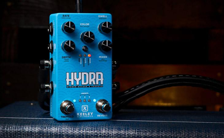 Keeley Hydra: riverbero, tremolo, preset e funzioni alternative