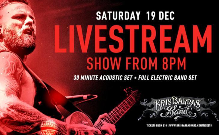 Kris-Mas Show:  il 19 dicembre il concerto in live stream di Kris Barras