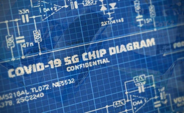 No: questo non è lo schema del chip Covid-19