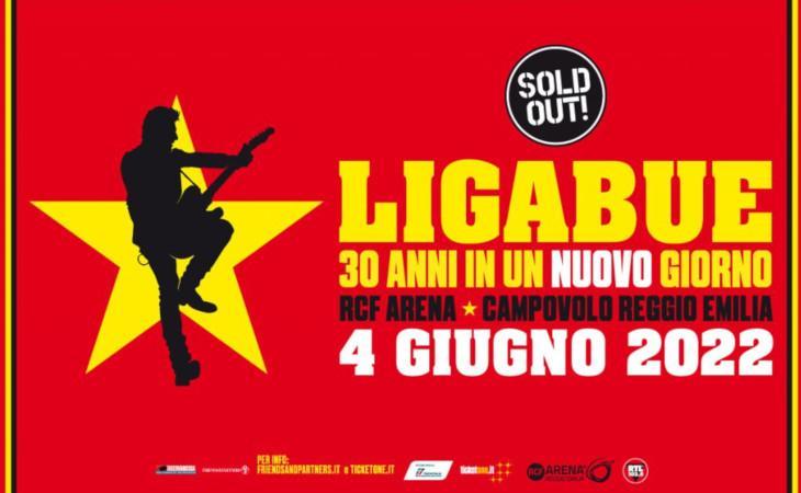 Ligabue: rinviato al 2022 il concerto alla RCF Arena di Reggio Emilia