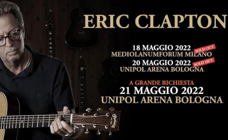 Eric Clapton: aggiunta una terza data italiana per il 2022
