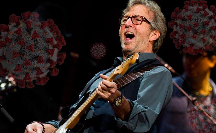 Eric Clapton non suonerà per i soli vaccinati, ma non è un No Vax