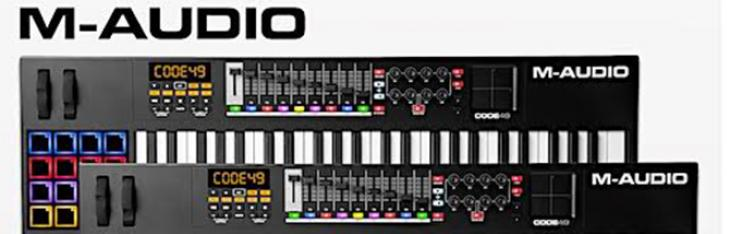 M-Audio CODE series controller con nuovo look Total Black!