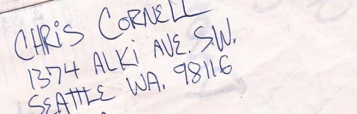 Chris Cornell, 1374 Alki Ave. S.W. Seattle