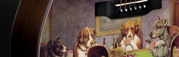 I cani che giocano a poker diventano una chitarra Martin