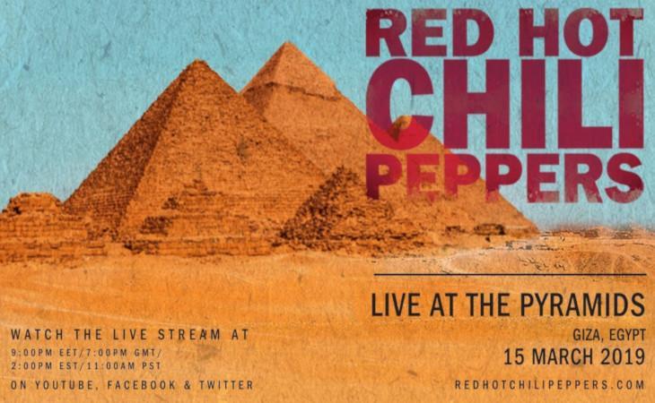 Red Hot Chili Peppers, il live alle piramidi di Giza sarà trasmesso in diretta streaming
