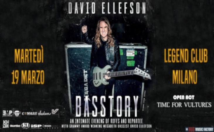 David Ellefson, Basstory clinic il 19 Marzo a Milano