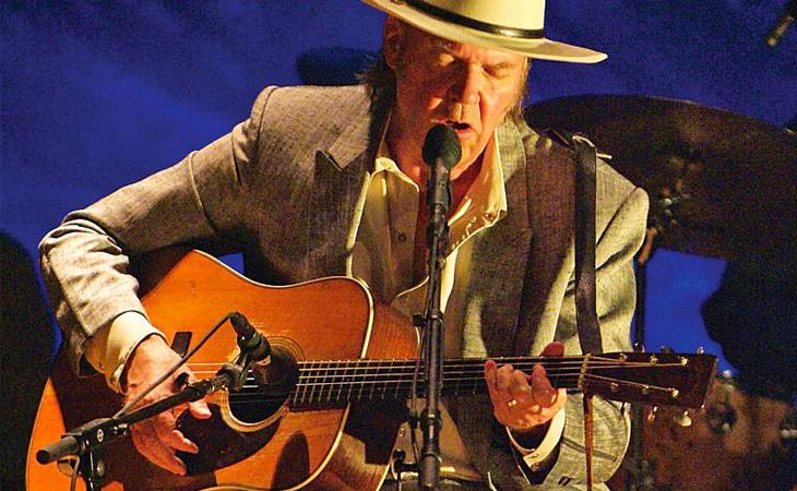 Le chitarre acustiche di Neil Young