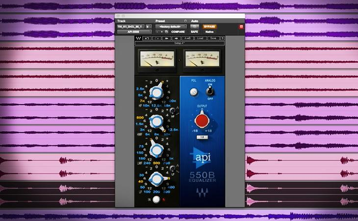 Hardware contro Plugin: API 550B e Waves Audio API 550B a confronto