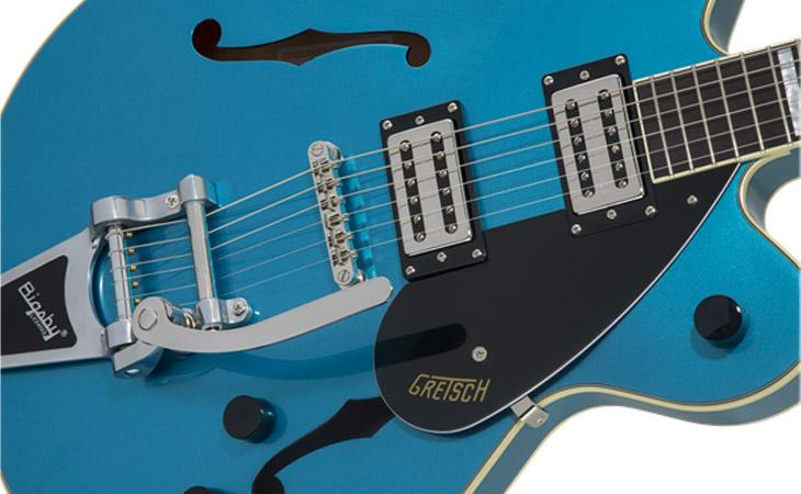 Gretsch G2622: stoptail e Bigsby in video