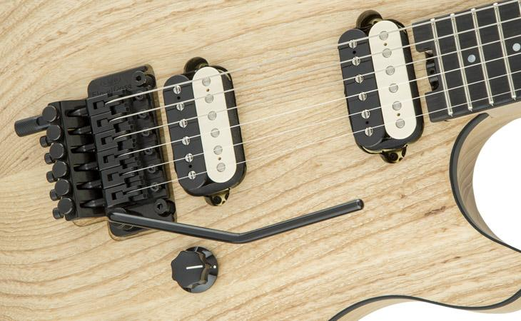 Frassino nudo e hardware nero per la EVH Wolfgang